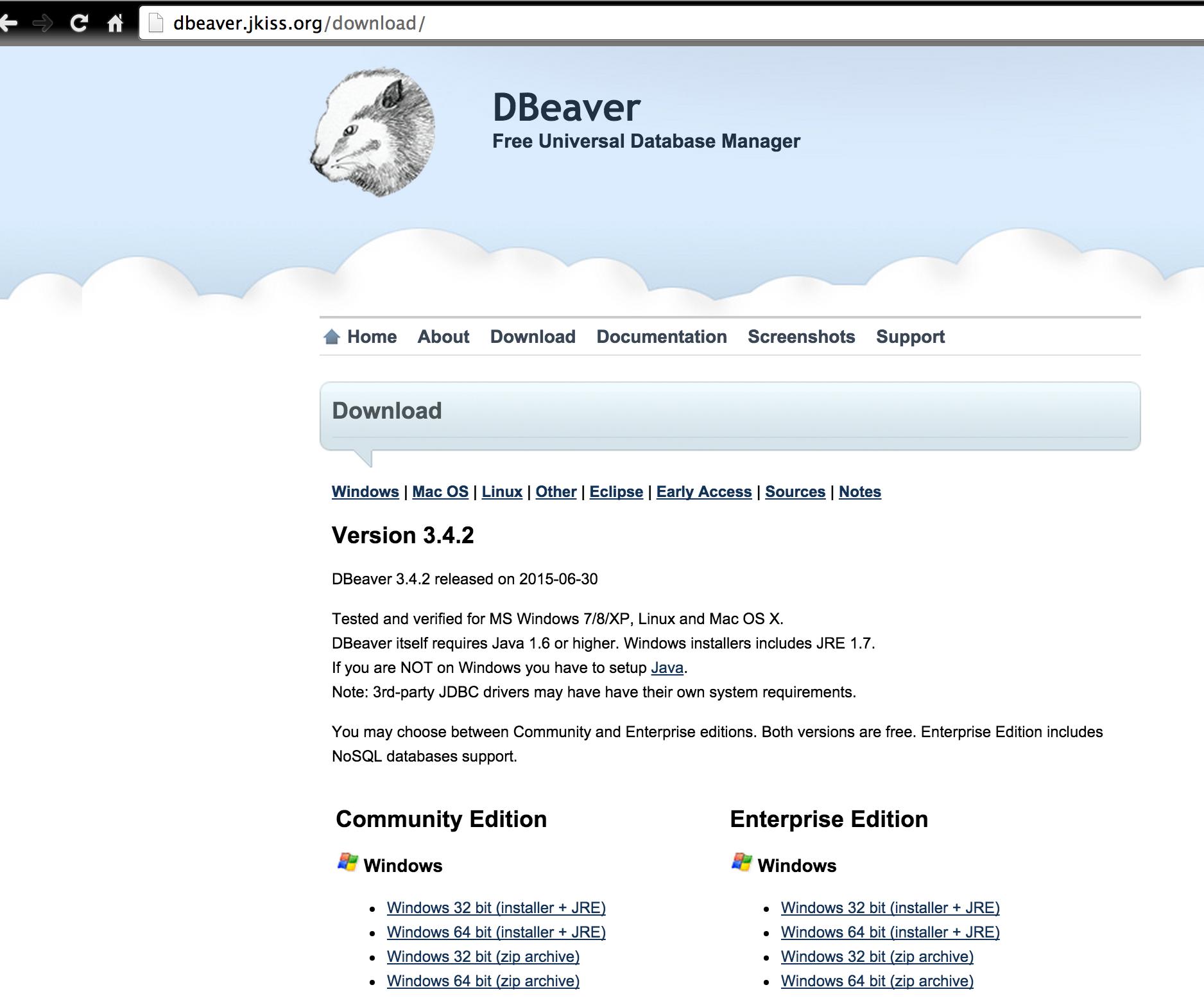 DBeaver - Adictos al trabajo