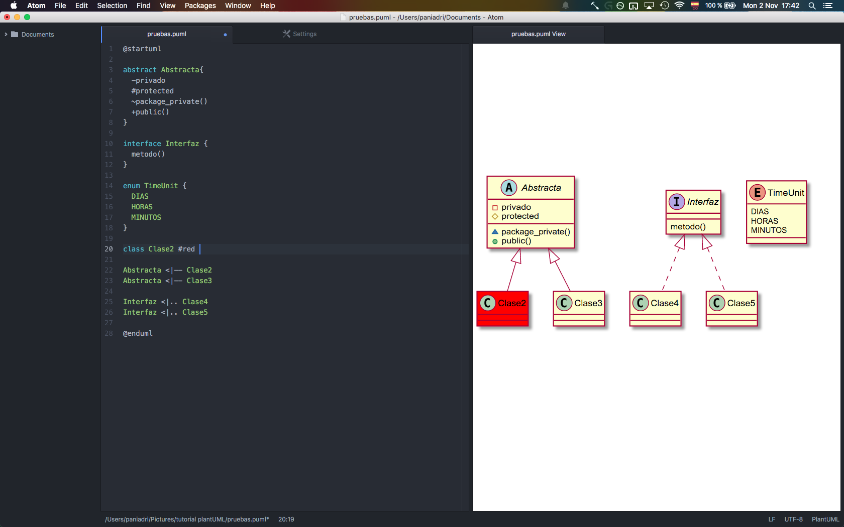 Captura de pantalla atom paquetes