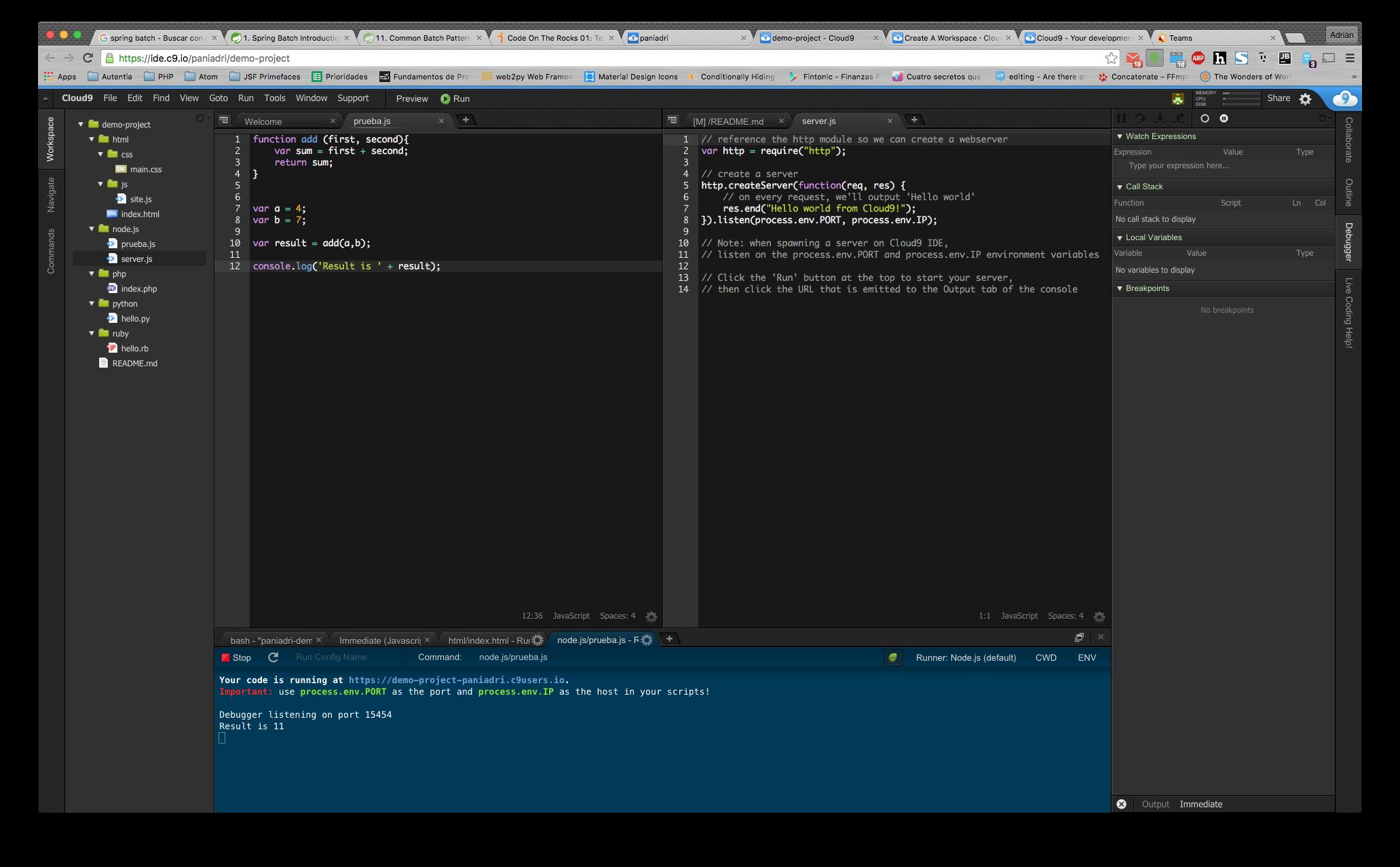 Programación en la nube: Cloud 9 IDE | adictosaltrabajo
