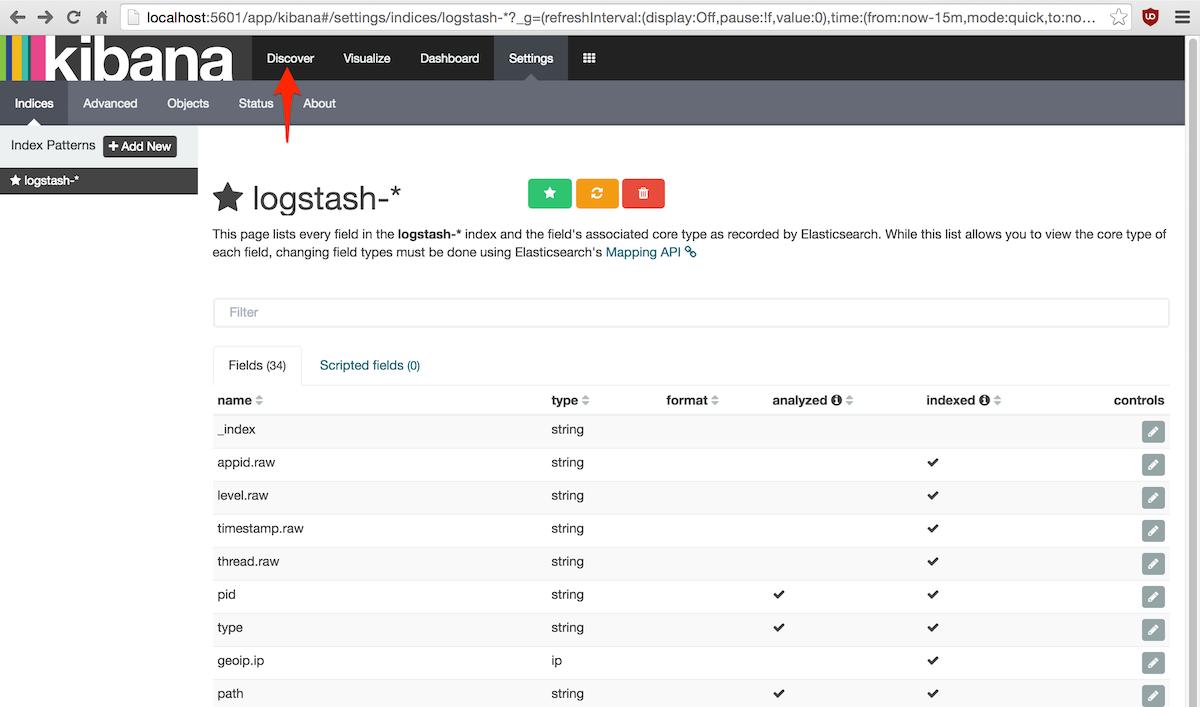 Personalización campos búsqueda Kibana