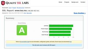 Ejemplo de resultado satisfactorio en SSL Labs