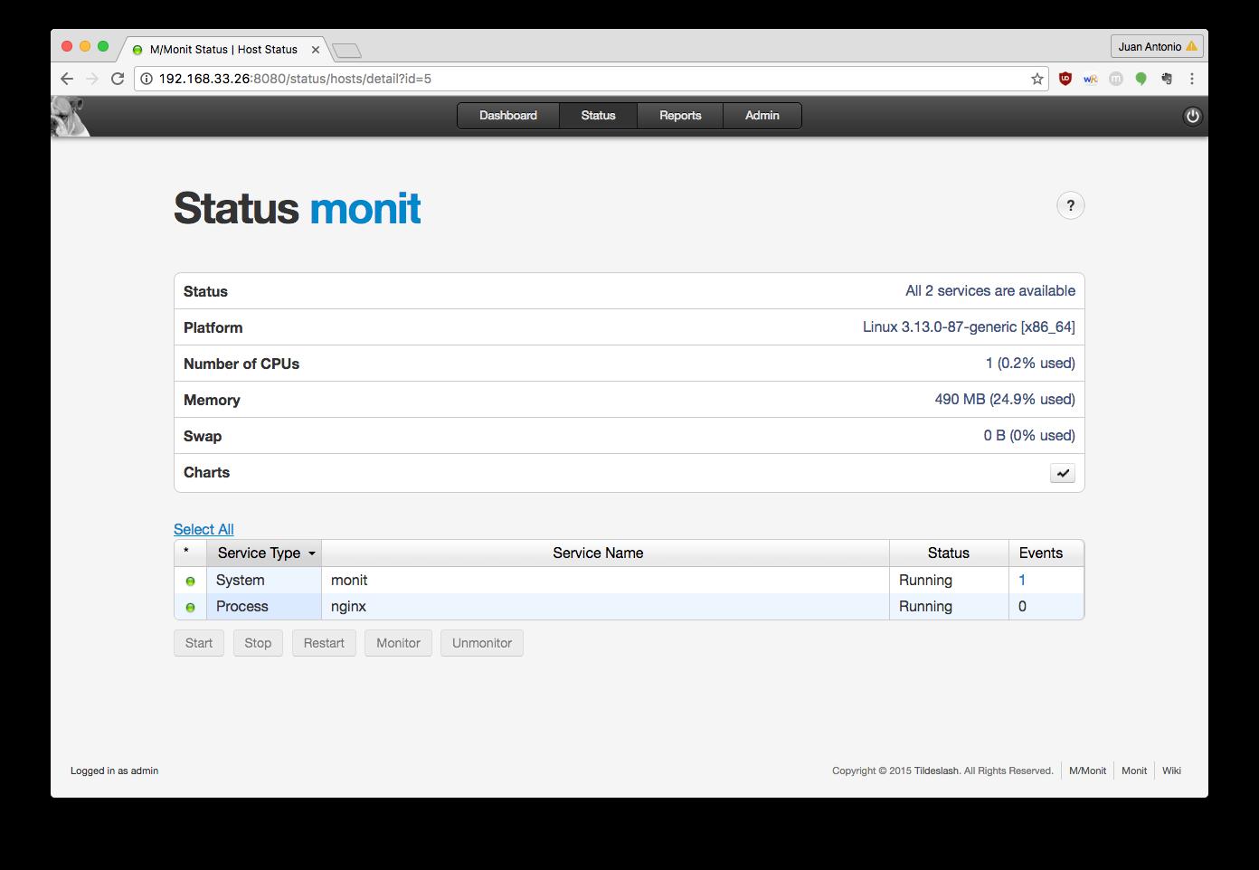 Monit Status Detail