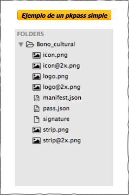 Estructura interna de un archivo pkpass