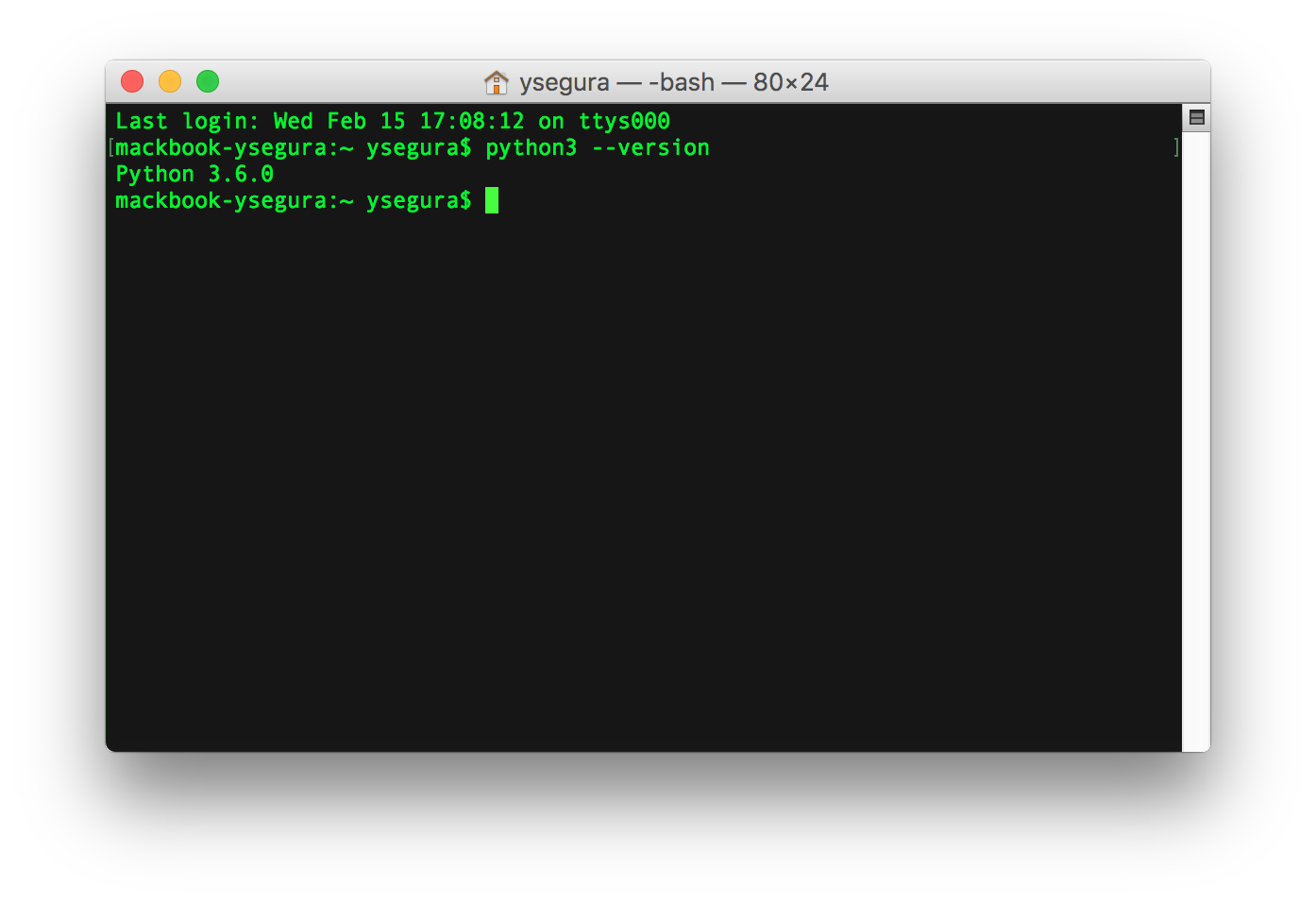 Versión Python instalada