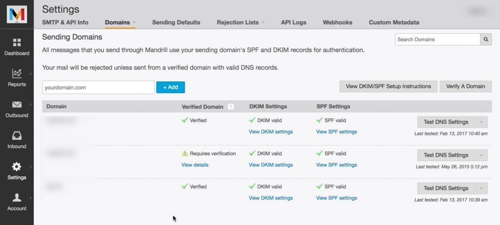 DKIM-SPF-lista dominios
