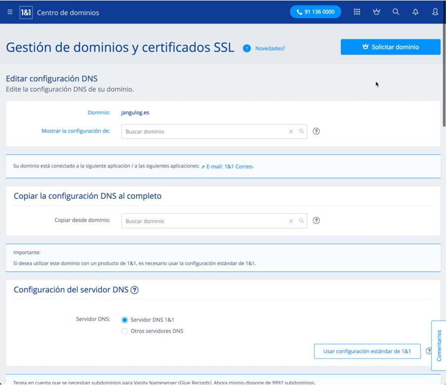 DKIM-SPF-1and1 DNS Editar
