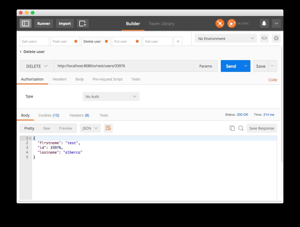 Liferay API REST - Petición DELETE Usuario