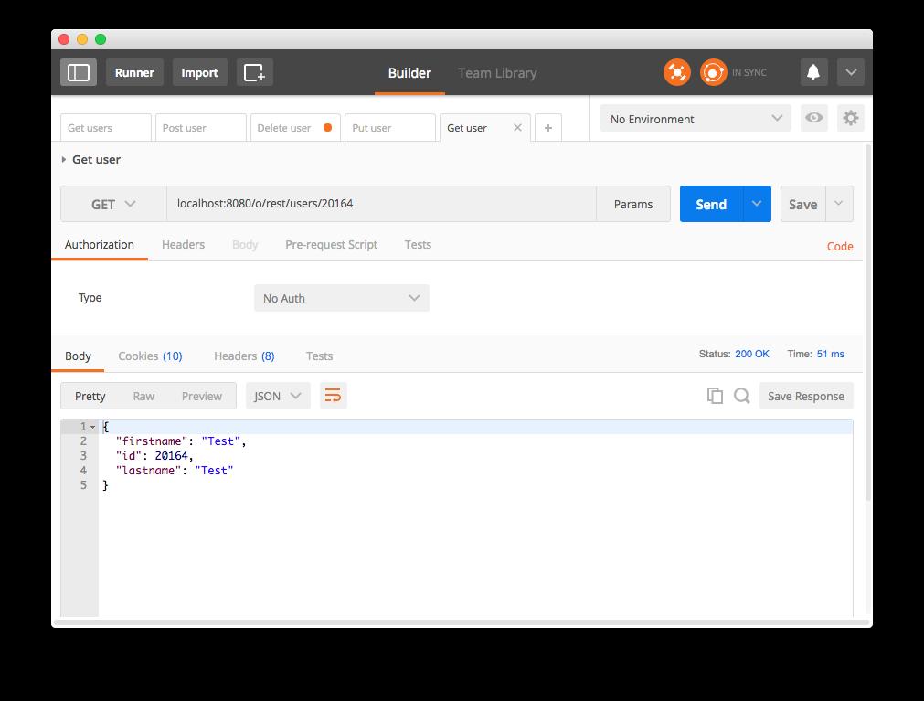 Liferay API REST - Petición GET Usuario