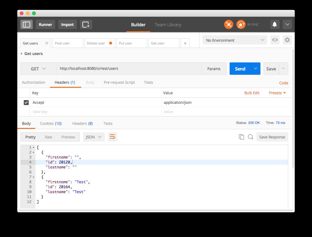 Liferay API REST - Petición GET Usuarios