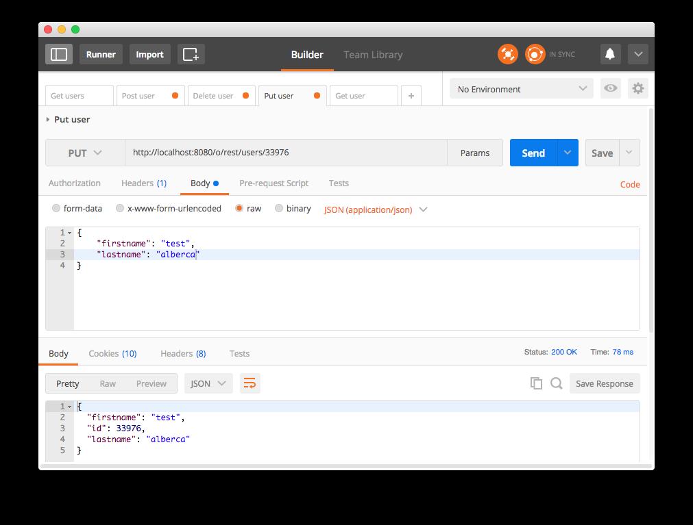 Liferay API REST - Petición PUT Usuario