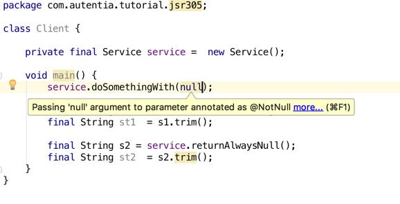 Invalid null argument