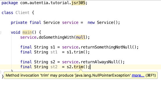 Possible null exception