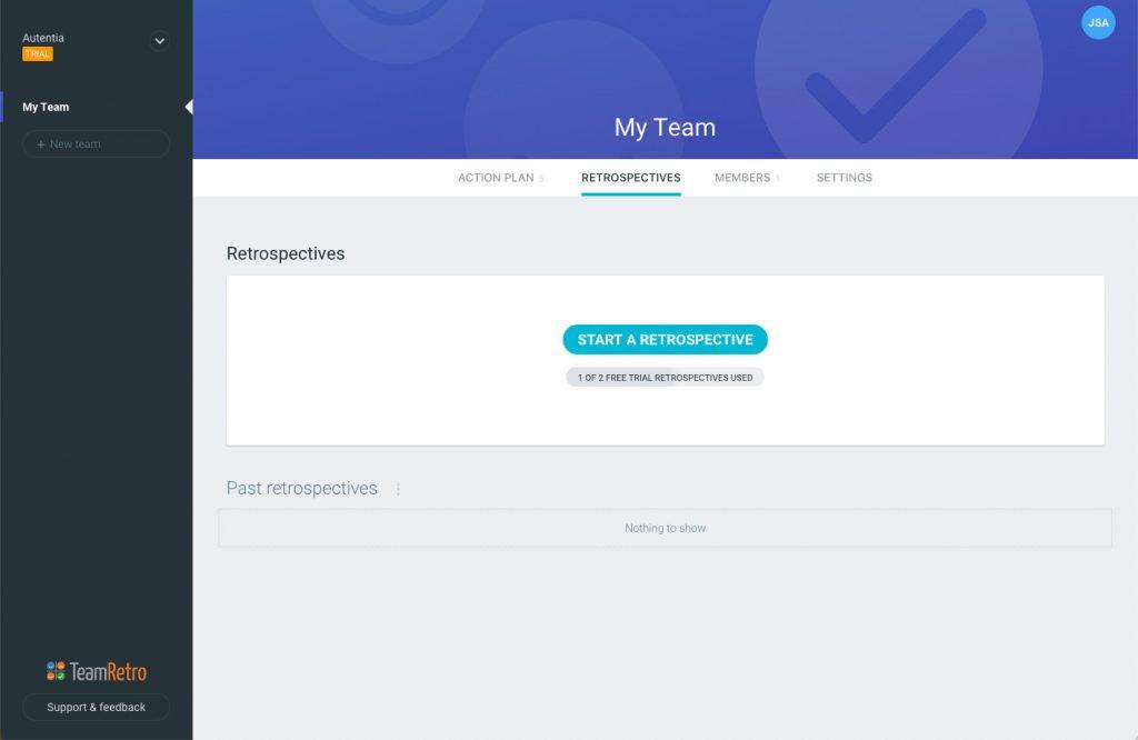 imagen de la pantalla inicial de la aplicación
