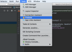 Asistente de Firebase en Tools