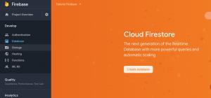 Crear las bases de datos en la consola de Firebase