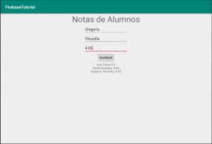 Aplicación de ejemplo de Realtime Database