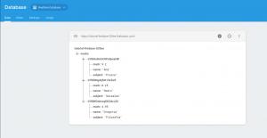 Datos insertados en la aplicación de ejemplo