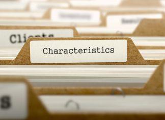 Imagen que muestra una archivador con una etiqueta que dice características
