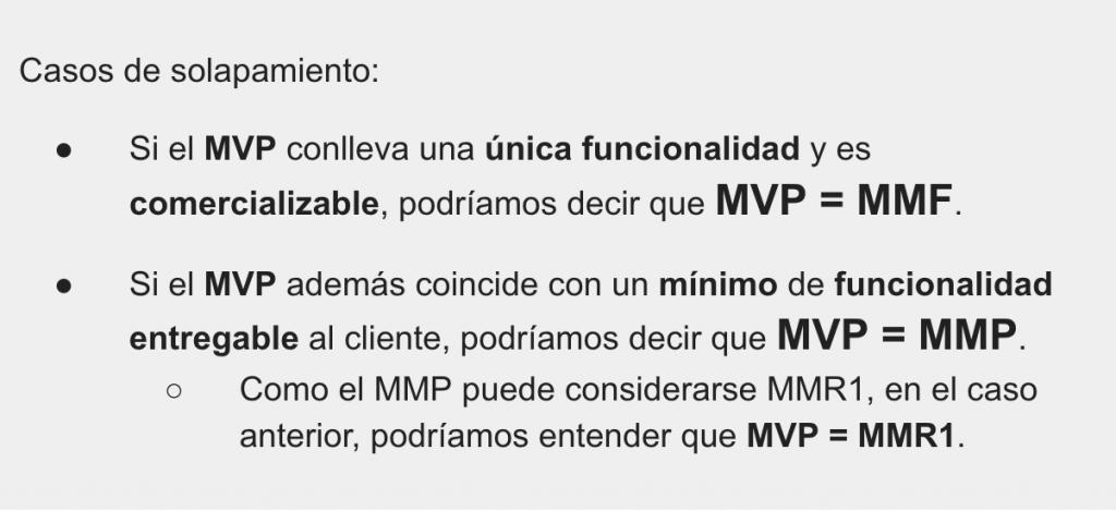 Solapamientos del MVP