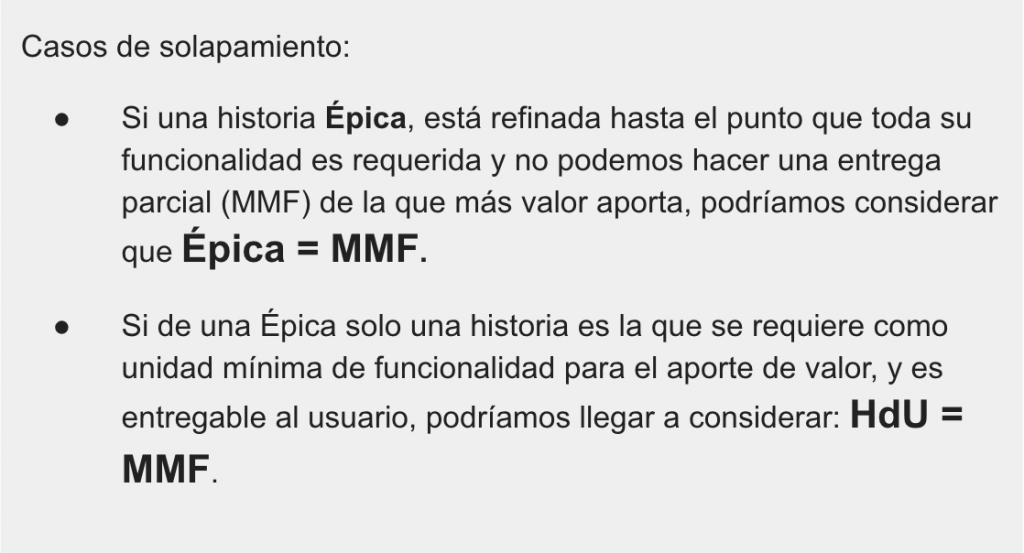 Solapamiento del MMF
