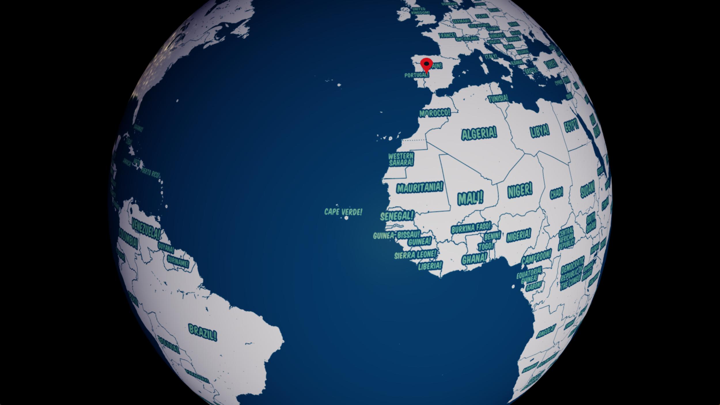 Resultado del código de Open Globus