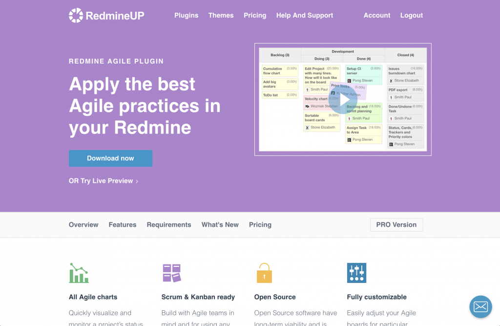 RedmineUp Agile plugin