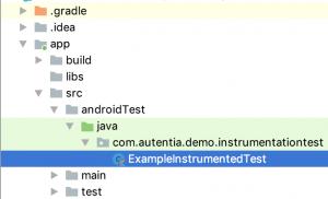 test de instrumentación android