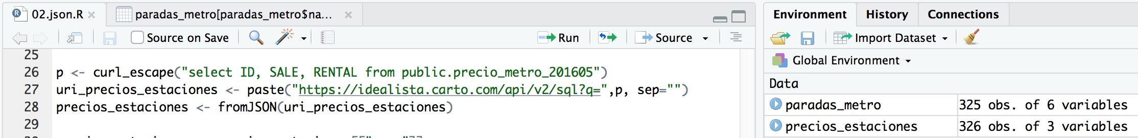 Al leer un JSON con R de precios nos damos cuenta que hay una estación de metro más que precios