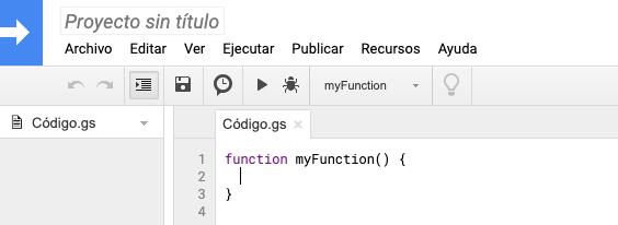 Nuevo proyecto de código