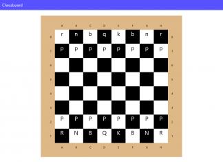 Vista cenital de tablero de ajedrez digital