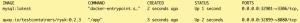 consola: docker ps, 2 contenedores mysql y Ryuk