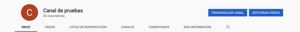 Captura del canal de Youtube