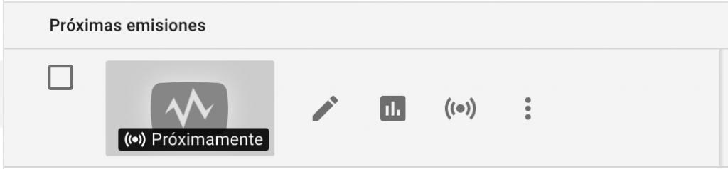 Imagen de los tres iconos que aparecen como opciones para editar el vídeo