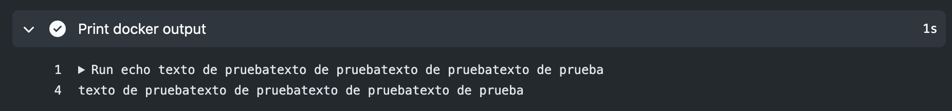 captura consola acción docker