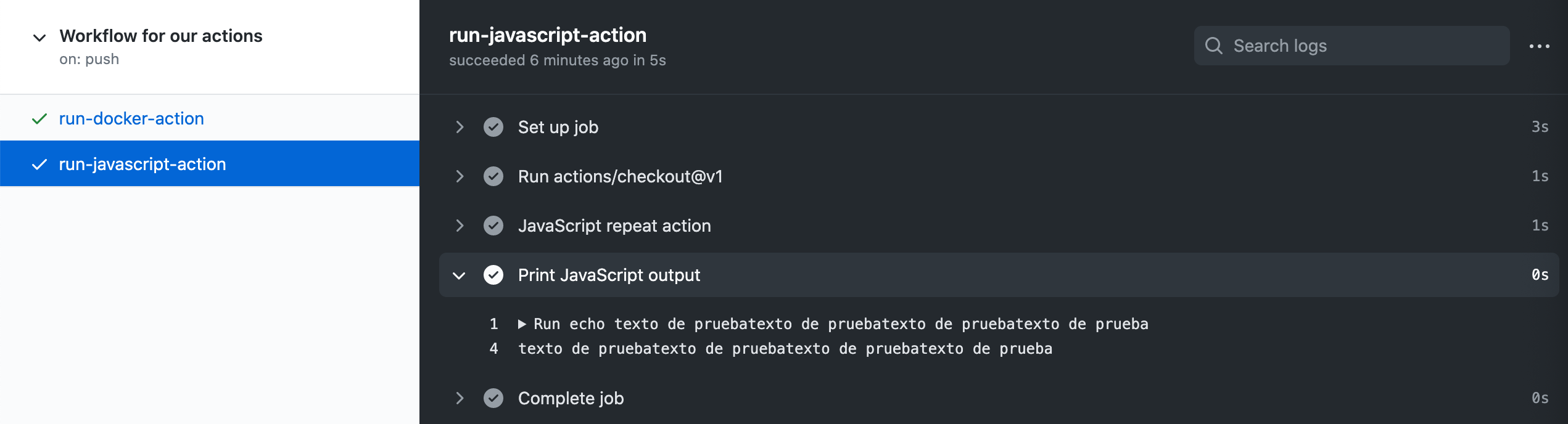 captura acción consola javascript