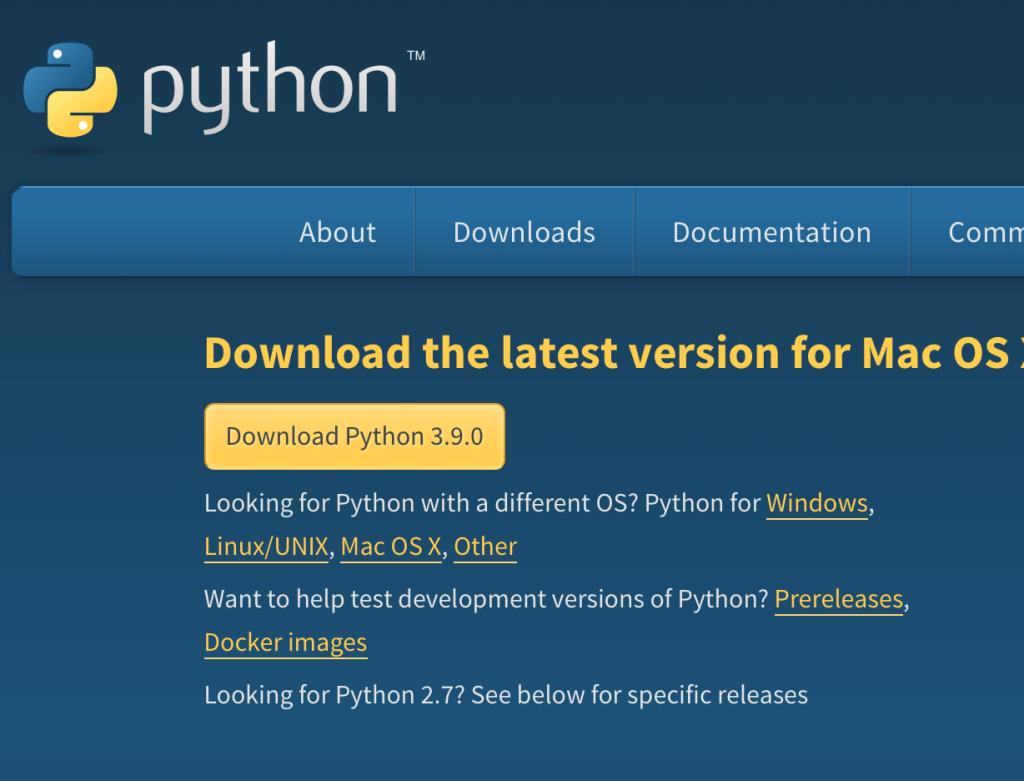 Python web, última versión