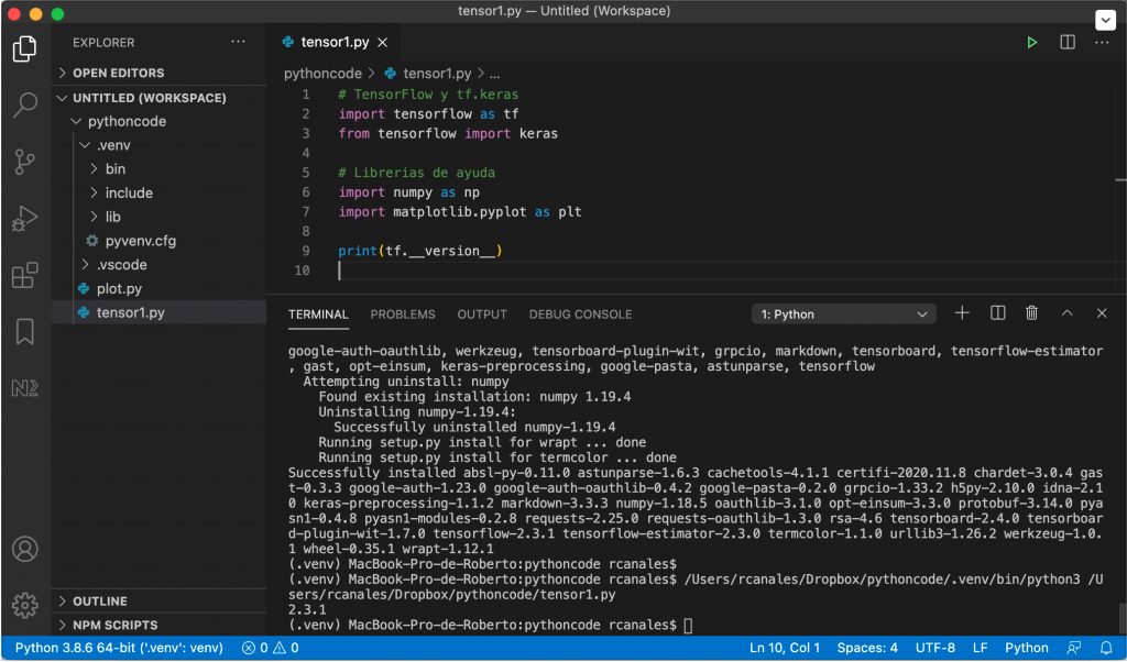 Terminal MS Visual Studio Code