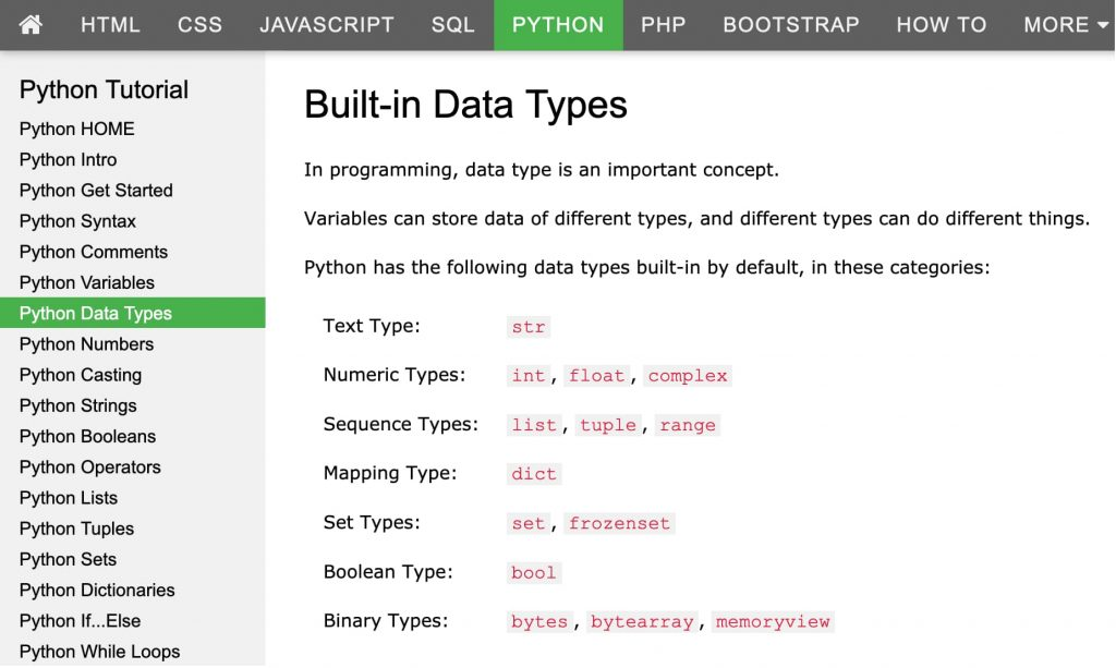 Built-in Data Types