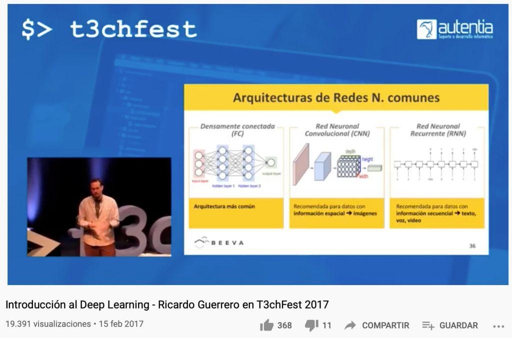 Captura de la charla de Ricardo Guerrero