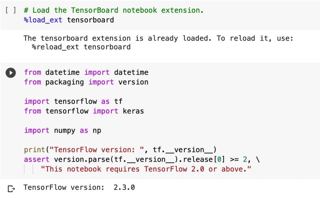 Inicializar TensorFlow y TensorBoard