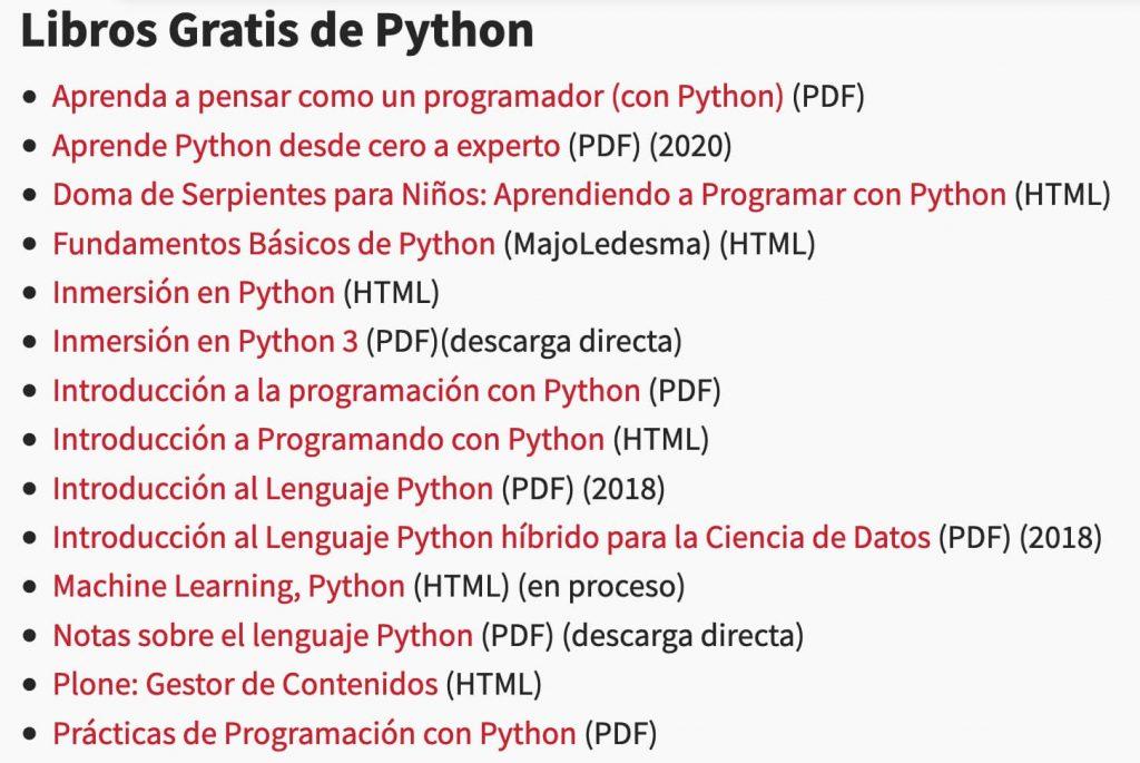 Libros gratis python