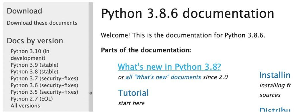 Python 3.8.6 Documentation