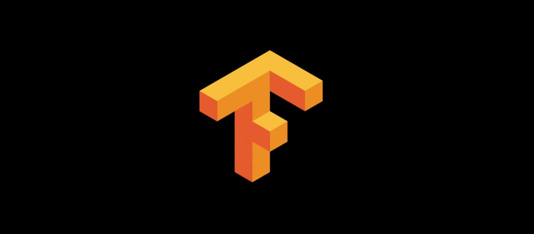 Logo de TensorFlow sobre fondo negro