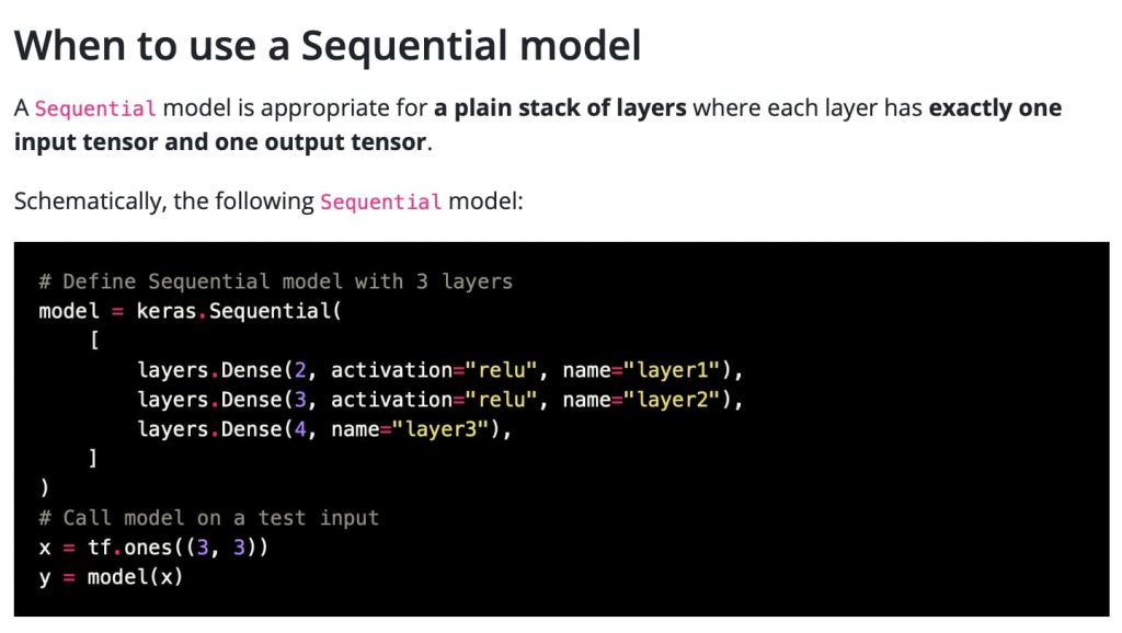When to use a sequential model