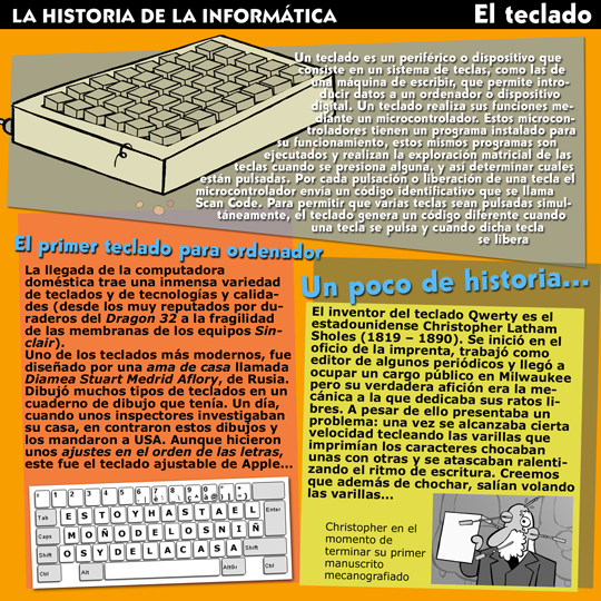 Historia de la Inform�tica. Monogr�ficos. El Teclado