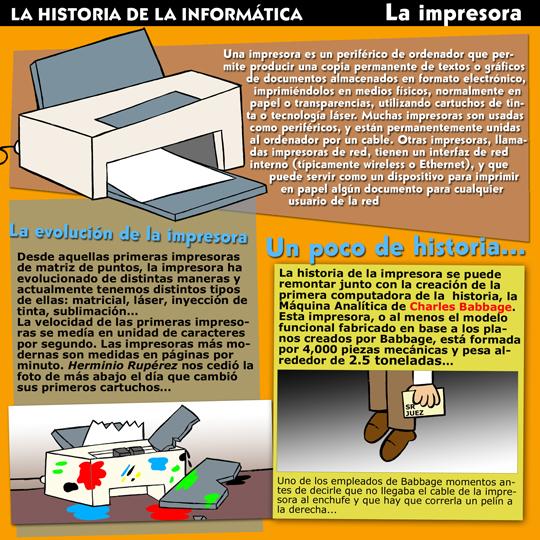 Historia de la Inform�tica. Monogr�ficos. La Impresora