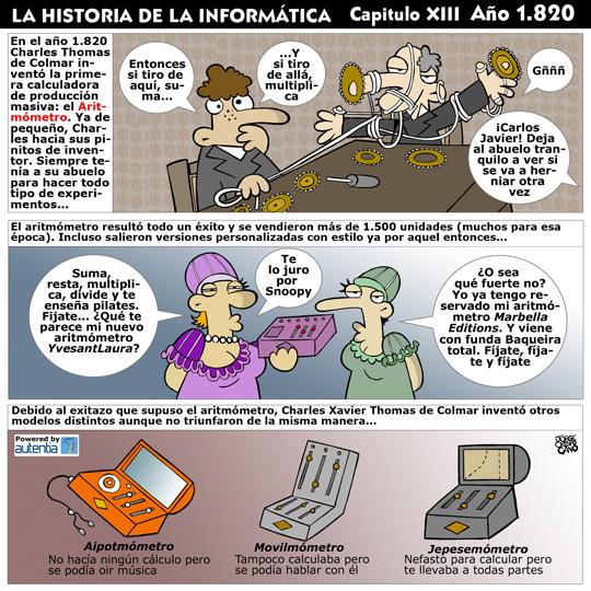Historia de la inform�tica. Cap�tulo 13. El Aritm�metro