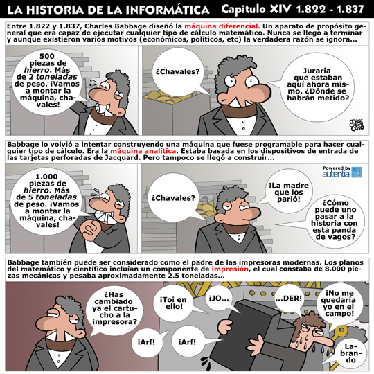 Historia de la inform�tica. Cap�tulo 14. Charles Babbage