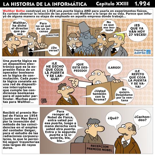 Historia de la inform�tica. Cap�tulo 23. Walther Bothe