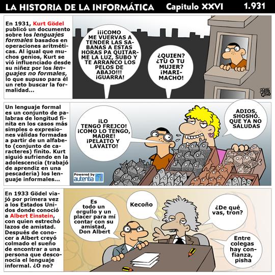 Historia de la inform�tica. Cap�tulo 26. Kurt G�del